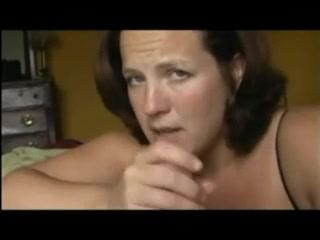 Mature sucks cock till he squirts