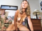 Blonde MILF amazing masturbation on camera